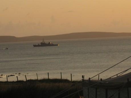 Irish Navy gunship in the Bay