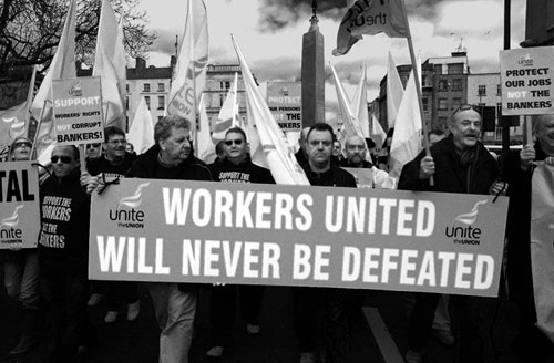 Waterford Workers on the ICTU March