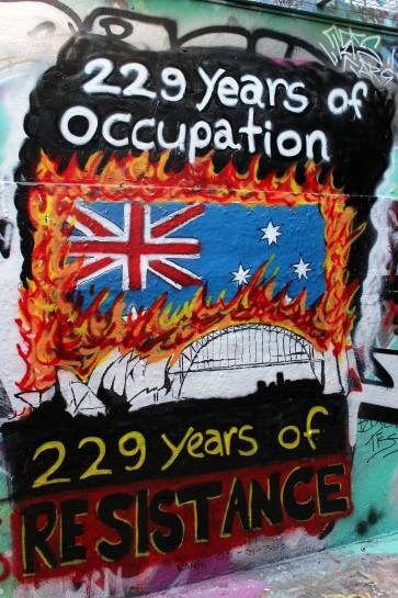 Sydney march against Australia / invasion day   Workers