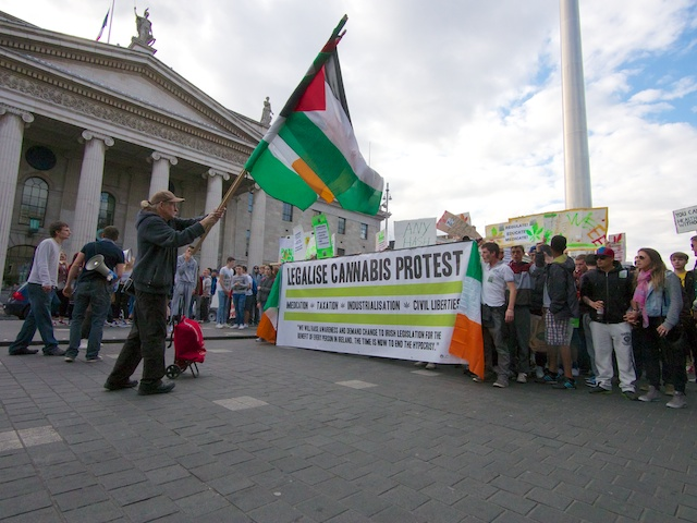 Legaise Cannabis March at GPO Dublin