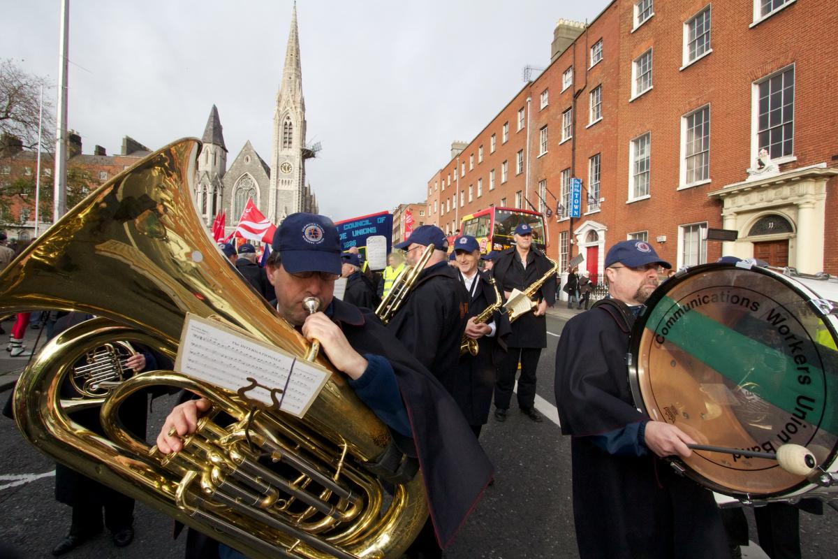 CWU band on Dublin Mayday - Photo by Andrew Flood
