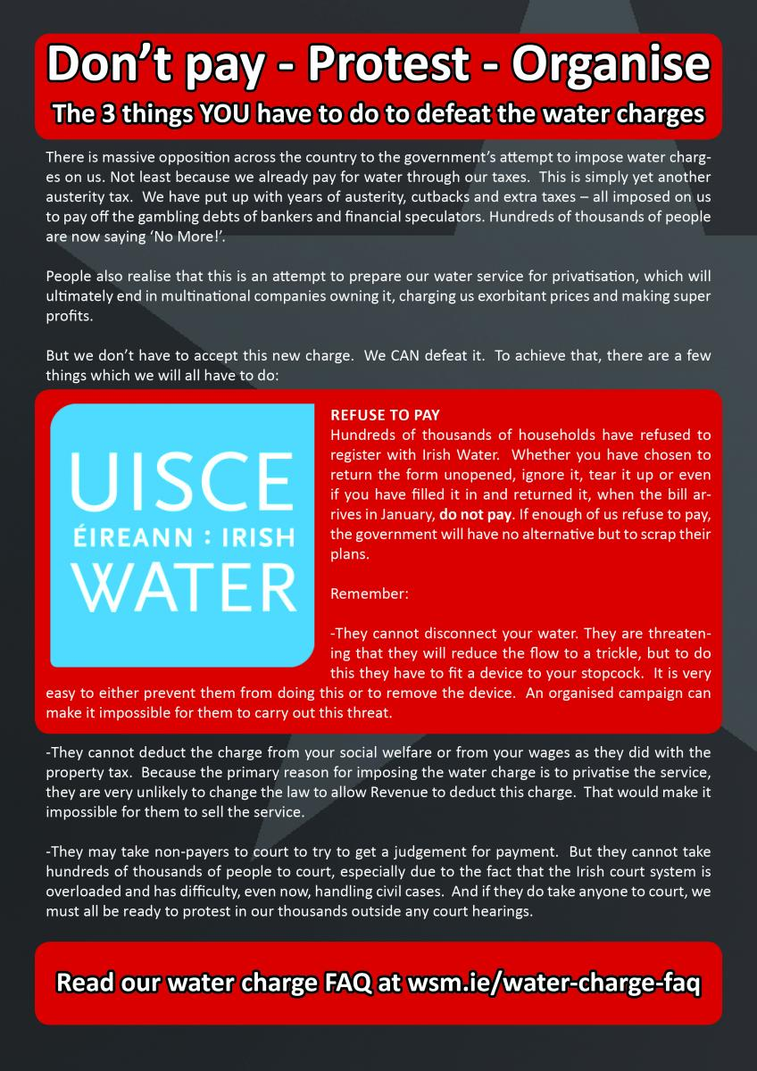 The 3 things you can do to defeat the water charges - Don't